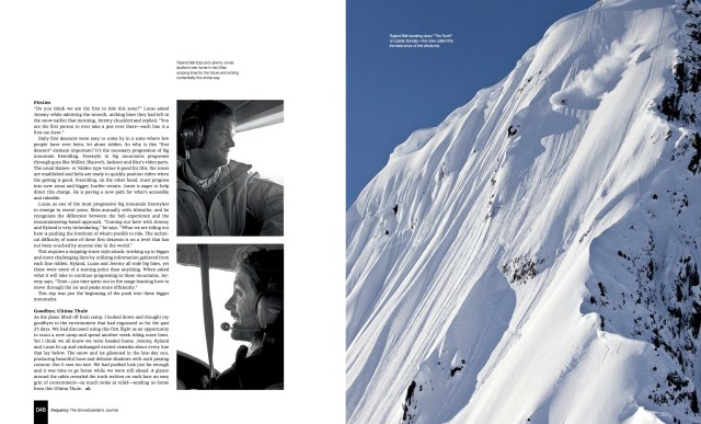 Ultima Thule : feature in Frequency The Snowboarders Journal