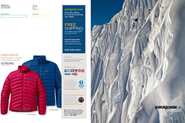 Patagonia winter catalog cover